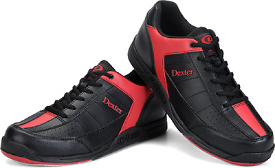 Mens Dexter Ricky III Bowling Shoes Black & Red Sizes 8 - 13
