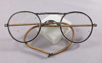 Vintage American Optical Metal Frame Safety Glasses AOCO76 - No Sides