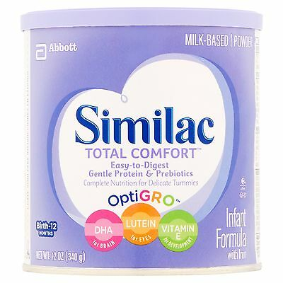 Similac Total Comfort Infant Formula with Iron Powder 12 oz (Pack of 6)