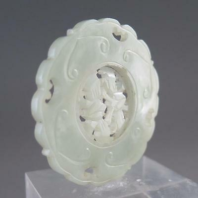 Exceptional Antique Chinese Translucent Jade Prayer Wheel