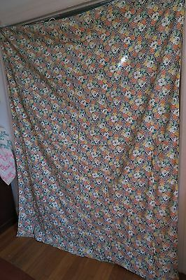 Vintage Antique cotton fabric 1940s 40s duvet cover Floral yardage