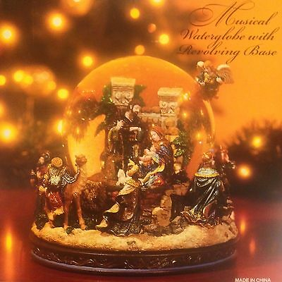 Kirkland Signature Musical  Waterglobe With Revolving Base 109619 New In Box
