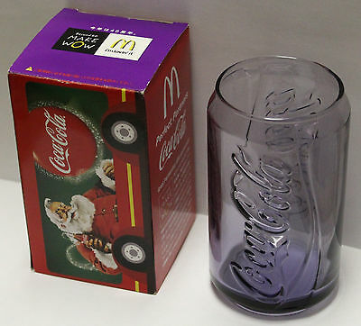 McDonalds Japan Coca Cola Can Shaped 40th Anniversary Glass Cup Purple