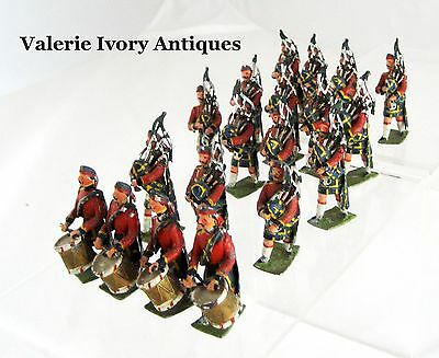 Set 19 Heyde Antique Lead Soldiers - Royal Scots Marching Band – Germany
