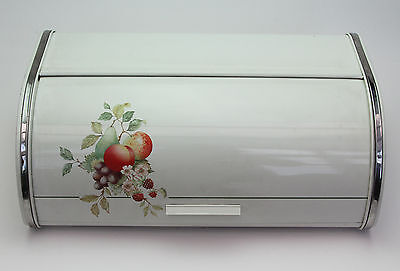 Vintage Roll Top Metal Bread Bin Box Rolltop Retro