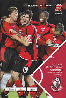 2008/09 BOURNEMOUTH V ROTHERHAM UNITED 11-10-2008 League 2 (Excellent)