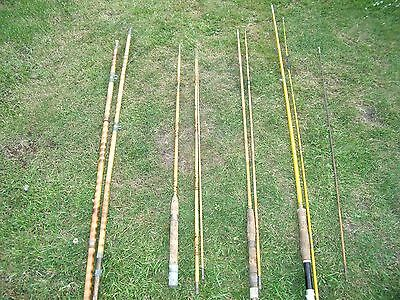 Collection of old bamboo fishing rods