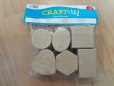 Pack o12 Craft Boxes