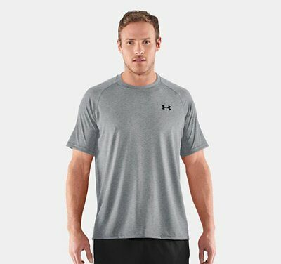 Under Armour Men's Tech Short Sleeve T-Shirt, 1228539, Grey,  NWT