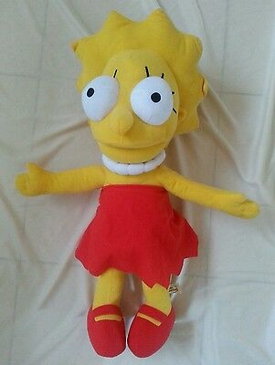 "THE SIMPSONS - Lisa Simpson 18"" Soft Toy Matt Groening 2015 Huge Plush Doll"