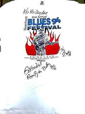 Koko Taylor / Buddy Guy Signed 1994 Riverfront Blues Festival Tee T Shirt