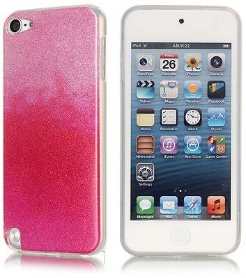iPod Touch 6th/5th Generation Glitter Shine TPU Back Silicone Case Cover New Uk