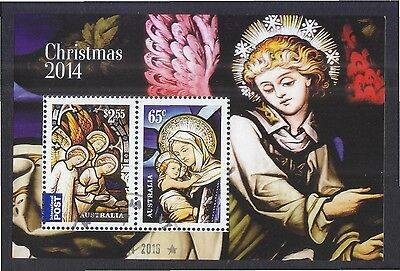 Australia 2014 Christmas Souvenir Sheet Of 2 Stamps In Fine Used Condition