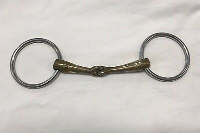 Used Herm Sprenger Turnado Aurigan Loose Ring Snaffle Bit - Size 5 1/8""