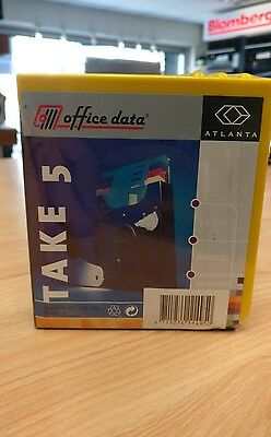 Office Data 3.5 Floppy Disks Diskettes pack of 5 and case. Factory sealed