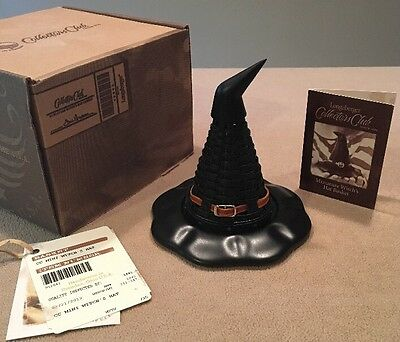 Longaberger 2013 Collectors Club 'Mini Witch's Hat' Mint Condition In Box!