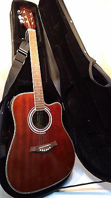 "Harmony ""S"" Model# 01003 Right Handed Acoustic/Electric Guitar, Case Included"