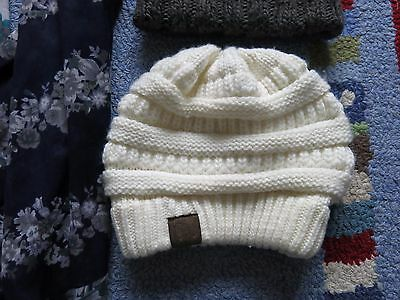 Set of 2 HATS michael kors and cc,and 1 scarf