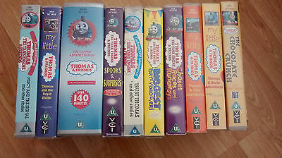 Collection of 10 Thomas the Tank Engine & Friends VHS tapes (PAL region)