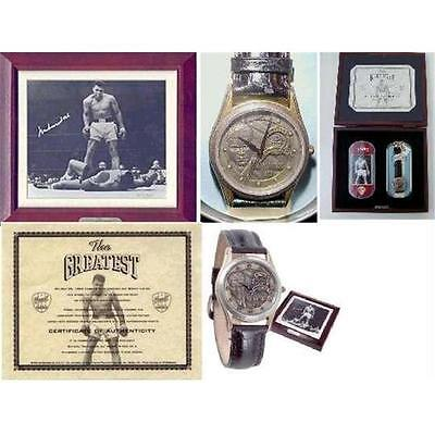 Muhammad Ali SIGNED AUTOGRAPHED Limited Edition Fossil Watch Set COA signiert
