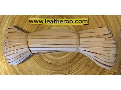 "Kangaroo Lace NATURAL Kangaroo Leather Lace (2.0mm 1/16"" Wdth) 10 meter hank"