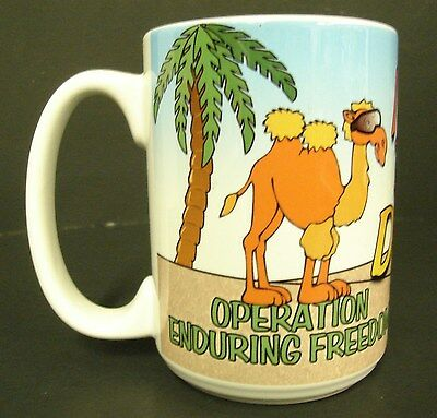 Operation Enduring Freedom Coffee Mug Cup, I Did the Deid, Camel Large