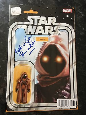 Star Wars #10 Jawa Action Figure Variant Signed By Rusty Goffe Nm