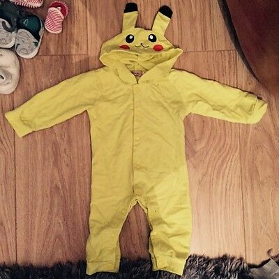 Pikachu Pokemon Baby Toddler Romper Costume Outfit Babygrow 6-12 Months