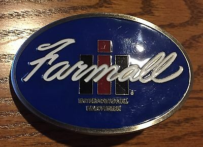 International Harvester IH Farmall Enamel Belt Buckle