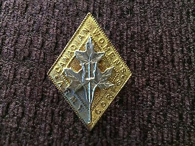 Canadian Women's Army Corps cap badge , Canada military