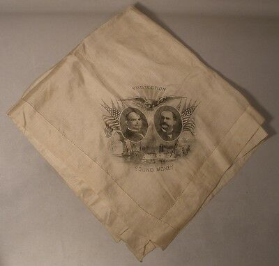 William McKinley Campaign Silk Handkerchief