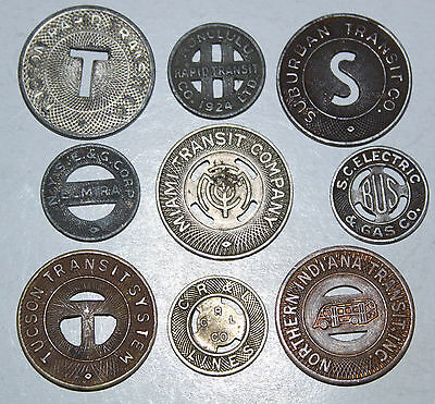 Nice Lot Of Transit Tokens - All Different!!!  #9