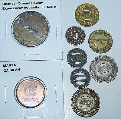 Nice Lot Of Transit Tokens - All Different!!!  #8