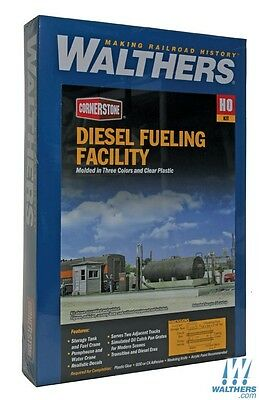 Diesel Fueling Facility HO Building Kit - Walthers Cornerstone #933-2908 vmf121