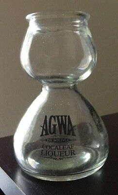 AGWA De Bolivia Coca Leaf Liqueur Double Bubble Shot Glass