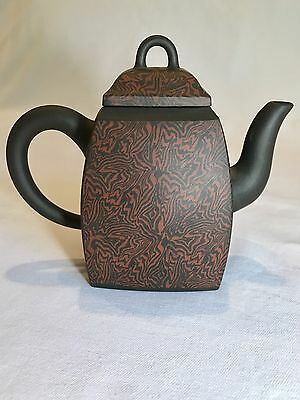 Chinese Qing Dynasty Yixing Pottery Tea Pot - Marbleized - RARE