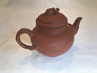 Chinese Qing Dynasty Yixing Pottery Tea Pot - signed