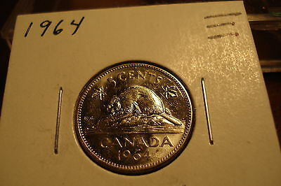 1964 - Canada Nickel - Uncirculated - Canadian five cent coin