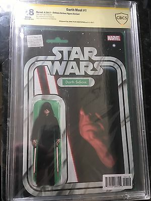 DARTH MAUL #1 CBCS 9.8 SS DARTH SIDIOUS Action Figure Signed By JT Christopher