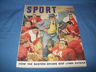 1950 Sport December Issue Boston Bruins
