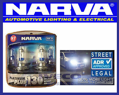 Narva H7 12V 55W Headlight Globes Platinum Plus 130 48545BL2