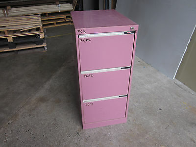 Secondhand Namco 3 Drawer Filing Cabinet Lockable with a key