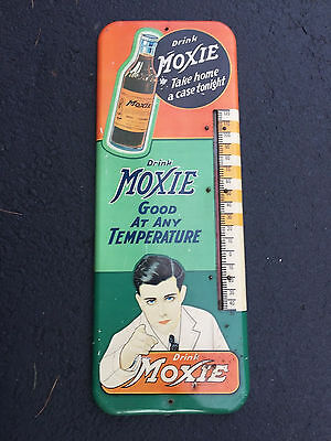 ULTRA RARE MOXIE  Thermometer Sign (NICE)