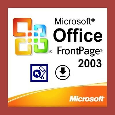 Microsoft Office FrontPage 2003, Downloadable, Web Design, Standalone Software