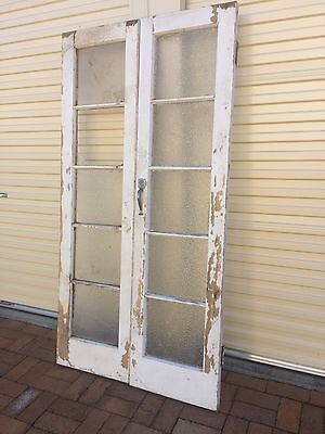 Antique French Doors Vintage Pine And Glass Entry