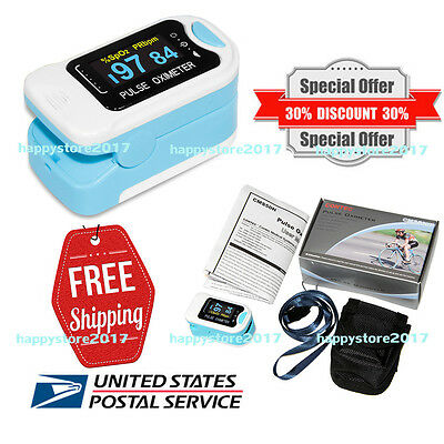 CMS50N Color OLED Finger Pulse Oximeter Blood Oxygen Meter SpO2 PR Monitor USA