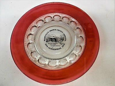 Vintage Advertising Nashville Brown Co. Indiana Kings Crown Thumbprint Ruby Red
