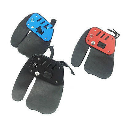 Right Hand Leather Protective Guard Archery Finger Tab Aluminum Frame Hunting