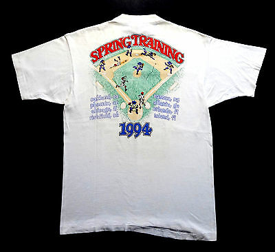 Grateful Dead Shirt T Shirt Vintage 1994 Baseball Spring Training Tour MLB GD L
