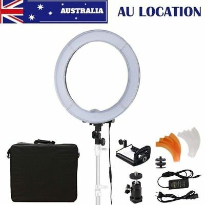 """AU STOCK LED Ring Light 14"""" 40W With Adapter Phone Holder Bag For Make Up Studio"""